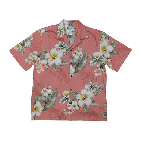 Hibiscus Trends Shirt // Coral (Small)