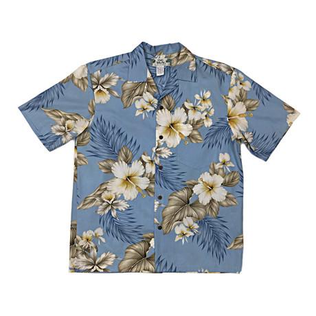 Hibiscus Trends Shirt // Light Blue (Small)