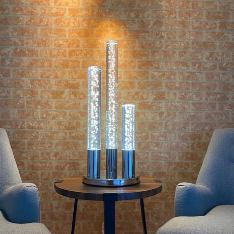 Acrylic Cylinders Table Lamp II // 3 Light