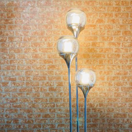 Chrome Globes Floor Lamp // 3 Light