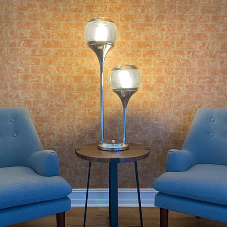 Chrome Globes Table Lamp // 2 Light