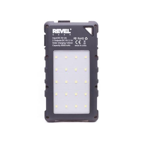 Day Tripper™ // 8000 mAh Solar Battery + 1000 Lumen LED Light