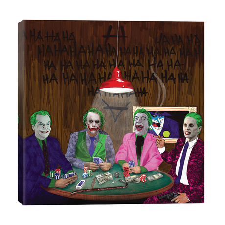 "Batman Jokers Wild // Kyle Willis (26""W x 26""H x 1.5""D)"