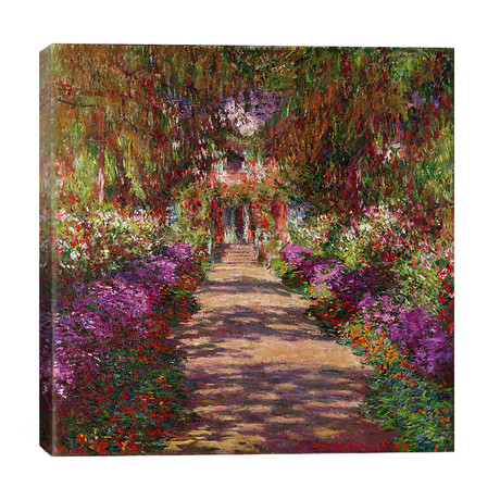 "A Pathway in Monet's Garden, Giverny, 1902 // Claude Monet (26""W x 26""H x 1.5""D)"