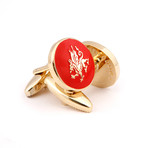 The Welsh Dragon Cufflinks // Red + Gold
