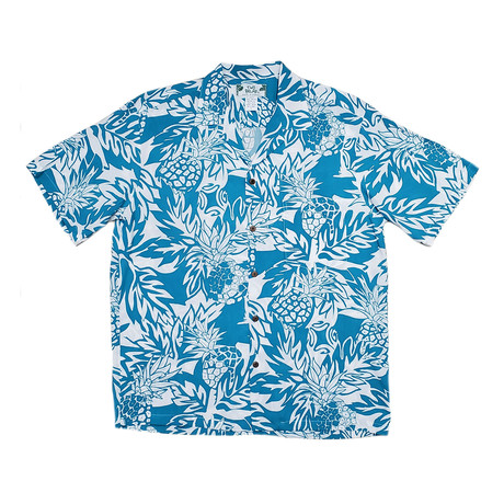 Wild Pineapple // Blue (2X-Large)