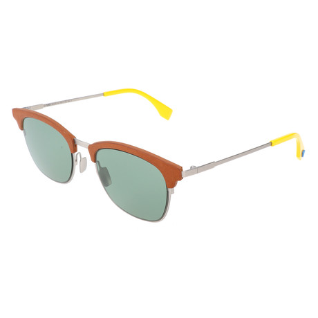 Men's 0228 Sunglasses // Silver + Green