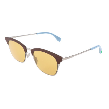 Men's 0228 Sunglasses // Antique Silver + Brown