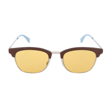 Men's 0228 Sunglasses // Antique Silver + Brown