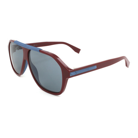 Men's M0027 Sunglasses // Opal + Burgundy