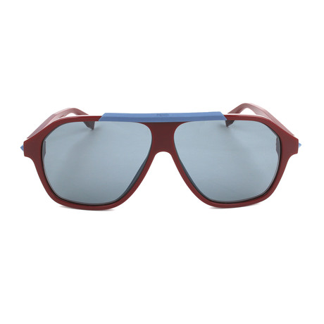 Men's M0027 Sunglasses // Opal + Burgundy