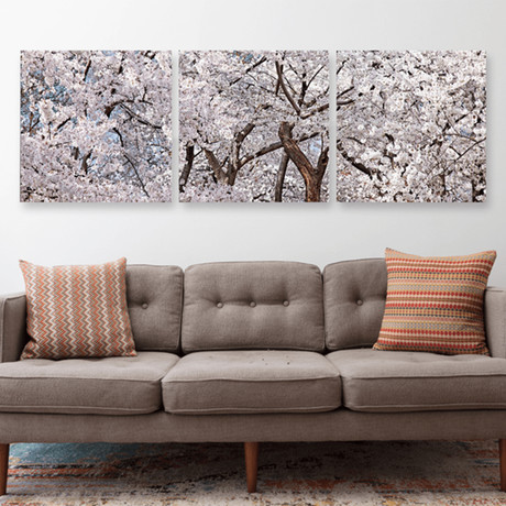 "Flowering Blossoms (20""H x 60""W x 1""D)"