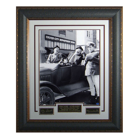 Laurel and Hardy // Facsimile Signature Display