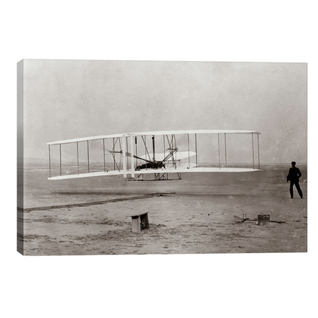 1903 Wright Brothers' Plane Taking Off At Kitty Hawk North Carolina USA // Vintage Images
