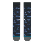 Isle Tropics Dress Socks // Black (L)