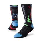 Hendrix Wrap Run Crew Socks // Black (L)
