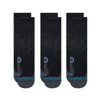 Run Crew Street Socks // Black // 3-Pack (L)