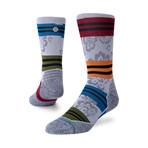 Flora Crew Socks // Gray (M)