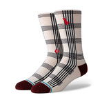 Rat Plaid Socks // White (L)