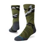 Polycam Crew Socks // Green (M)