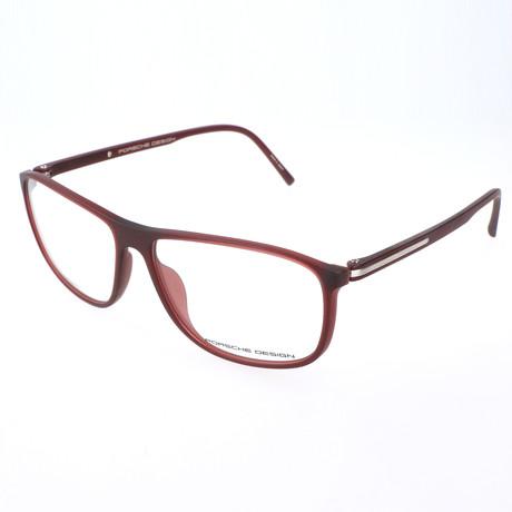 Men's P8278 Optical Frames // Red
