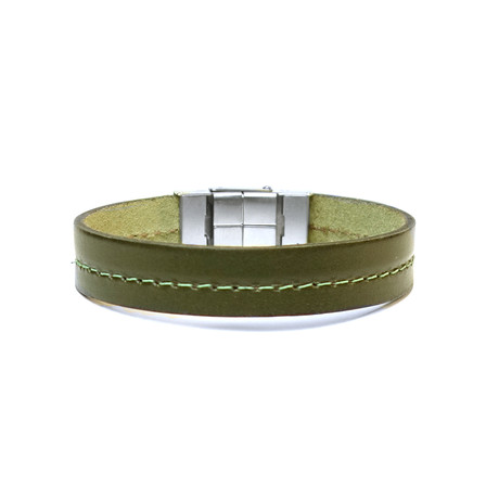 Don Collection // Leather Bracelet // Green