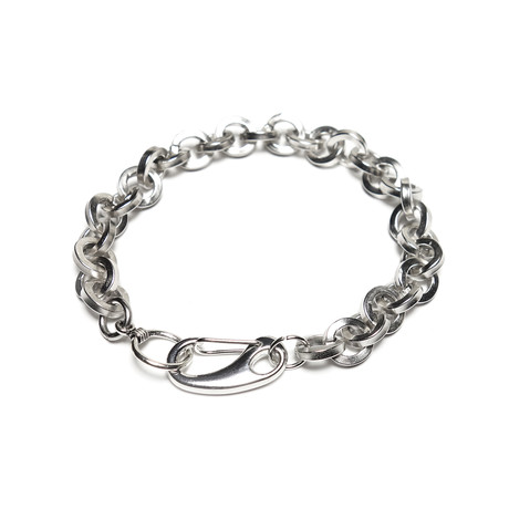 Rounded Link Chain // Silver