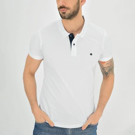 Ross Short Sleeve Polo // White (S)