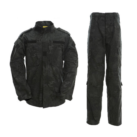 Jacket + Trousers Set // Black + Snake (XS)