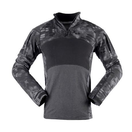 Jungle Long Sleeve Shirt // Black + Snake (XS)