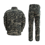Jacket + Trousers Set // Dark Gray + Camouflage (2XL)