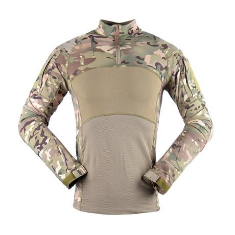 Jungle Long Sleeve Shirt // Khaki + Camouflage (M)