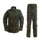 Jacket + Trousers Set // Dark Green + Camouflage (XS)