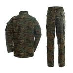 Jacket + Trousers Set // Dark Green + Camouflage (2XL)