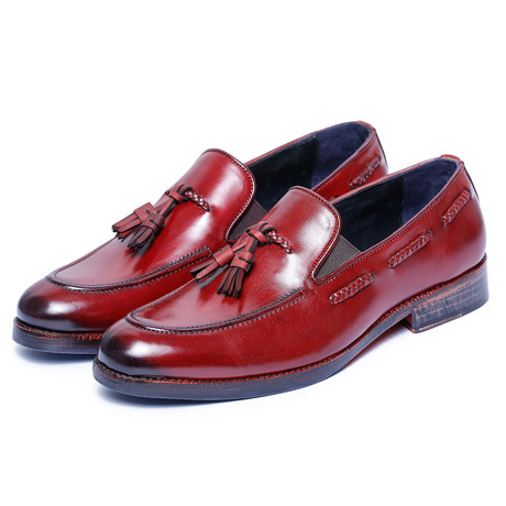 Tassel Loafers // Wine Red (US: 8)