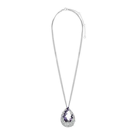 Stefan Hafner 18k White Gold Diamond + Amethyst Necklace