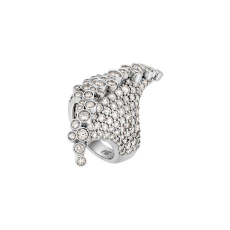 Stefan Hafner 18k White Gold Diamond Ring // Ring Size: 6.5
