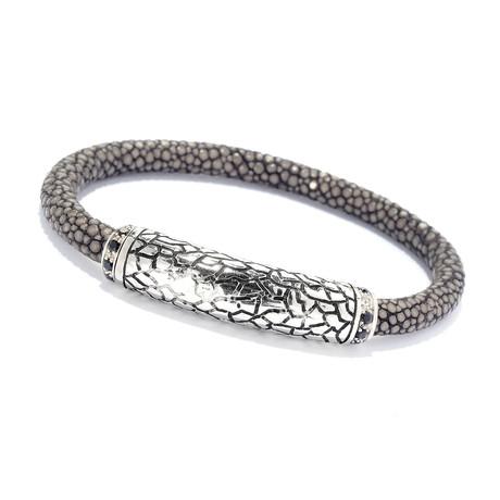 Sterling Silver + Black Onyx Stingray Bracelets