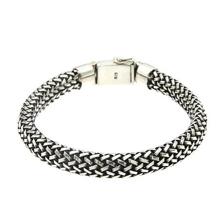 """Sterling Silver Woven Nanasan Bracelet (8"""" // 54g)"""
