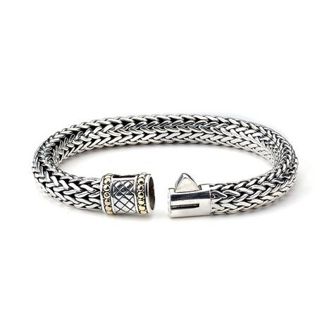 Sterling Silver + 18K Gold Tulang Naga Bracelet