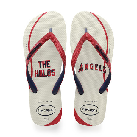 Top MLB Sandal // Anaheim Angels // White + Ruby Red (US: 8)