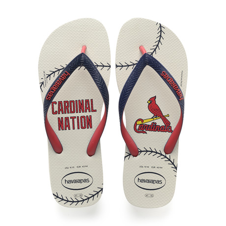 Top MLB Sandal // Saint Louis Cardinals // White + Red + Navy Blue (US: 8)