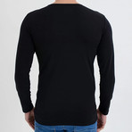 Nile Long Sleeve T-Shirt // Black (S)