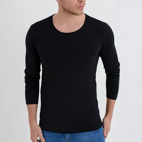 Nile Long Sleeve // Black (XS)