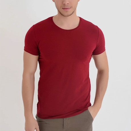 Mauna Loa T-Shirt // Bordeaux (XS)