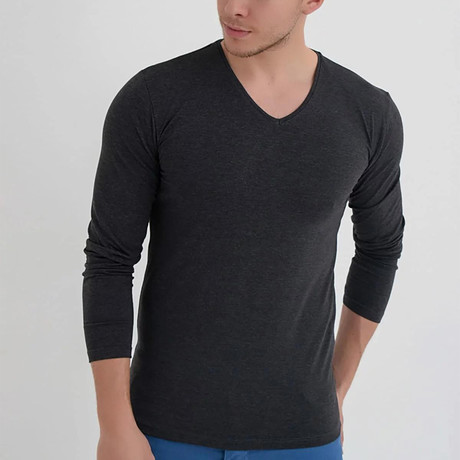 Amazon V-Neck Long Sleeve // Anthracite (XS)