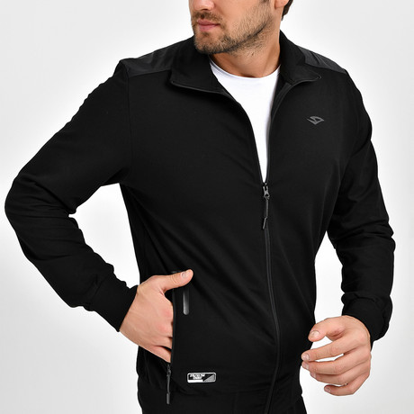 Granite Track Top // Black (S)