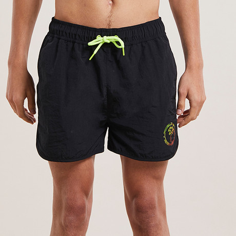 Malta Basic Swim Shorts + Print // Black (S)