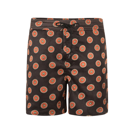 Sutra Printed Swim Shorts // Black (S)