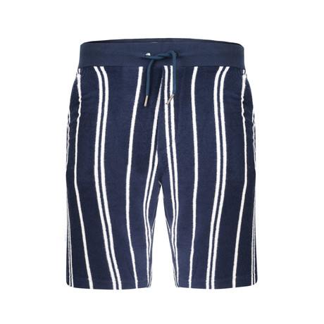 Arrow Textured Stripe Short // Navy (S)